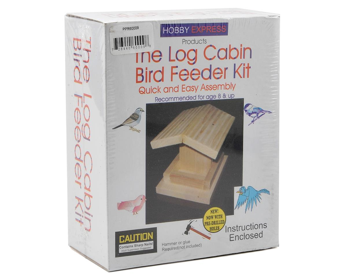 Hobby Express Log Cabin Bird Feeder Kit