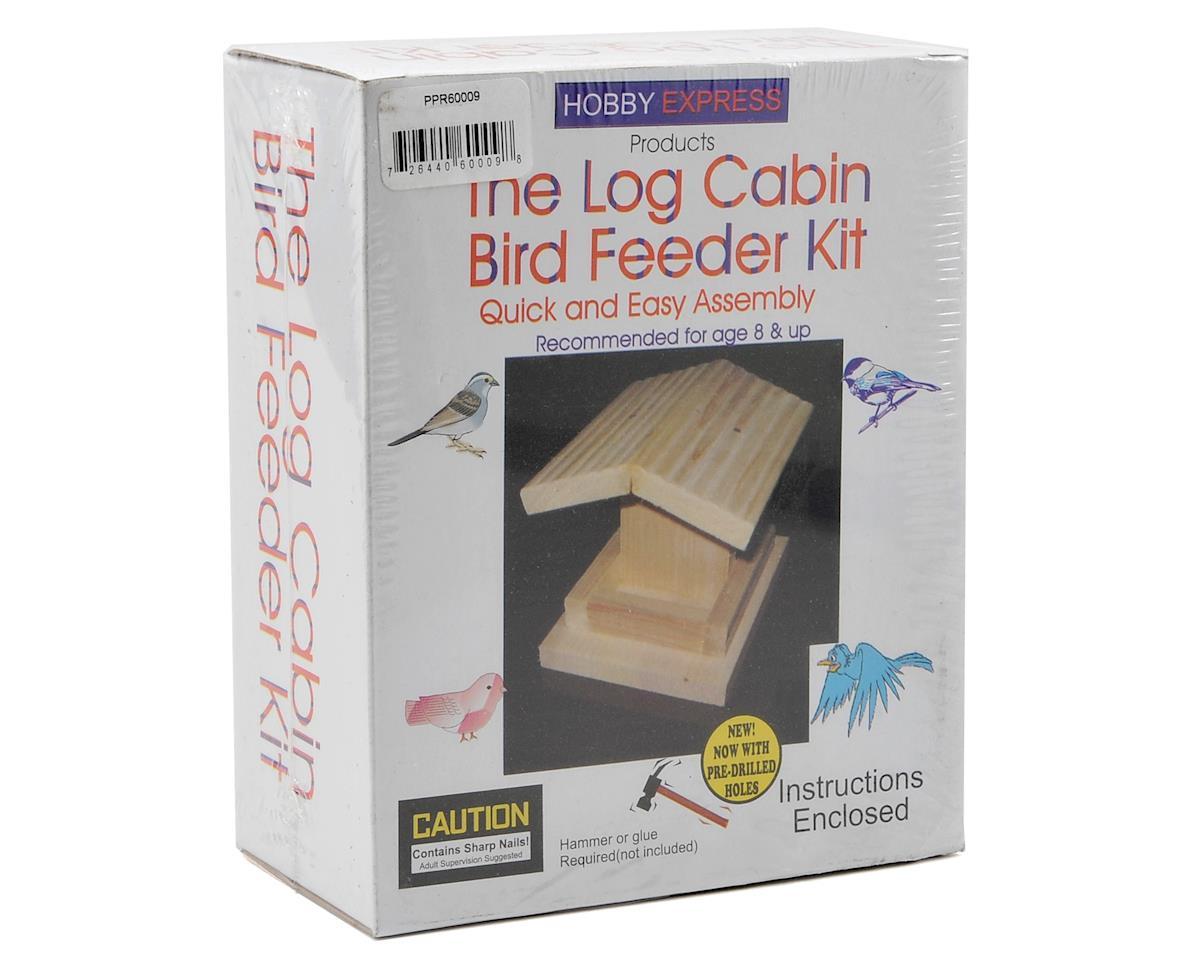 Log Cabin Bird Feeder Kit by Hobby Express