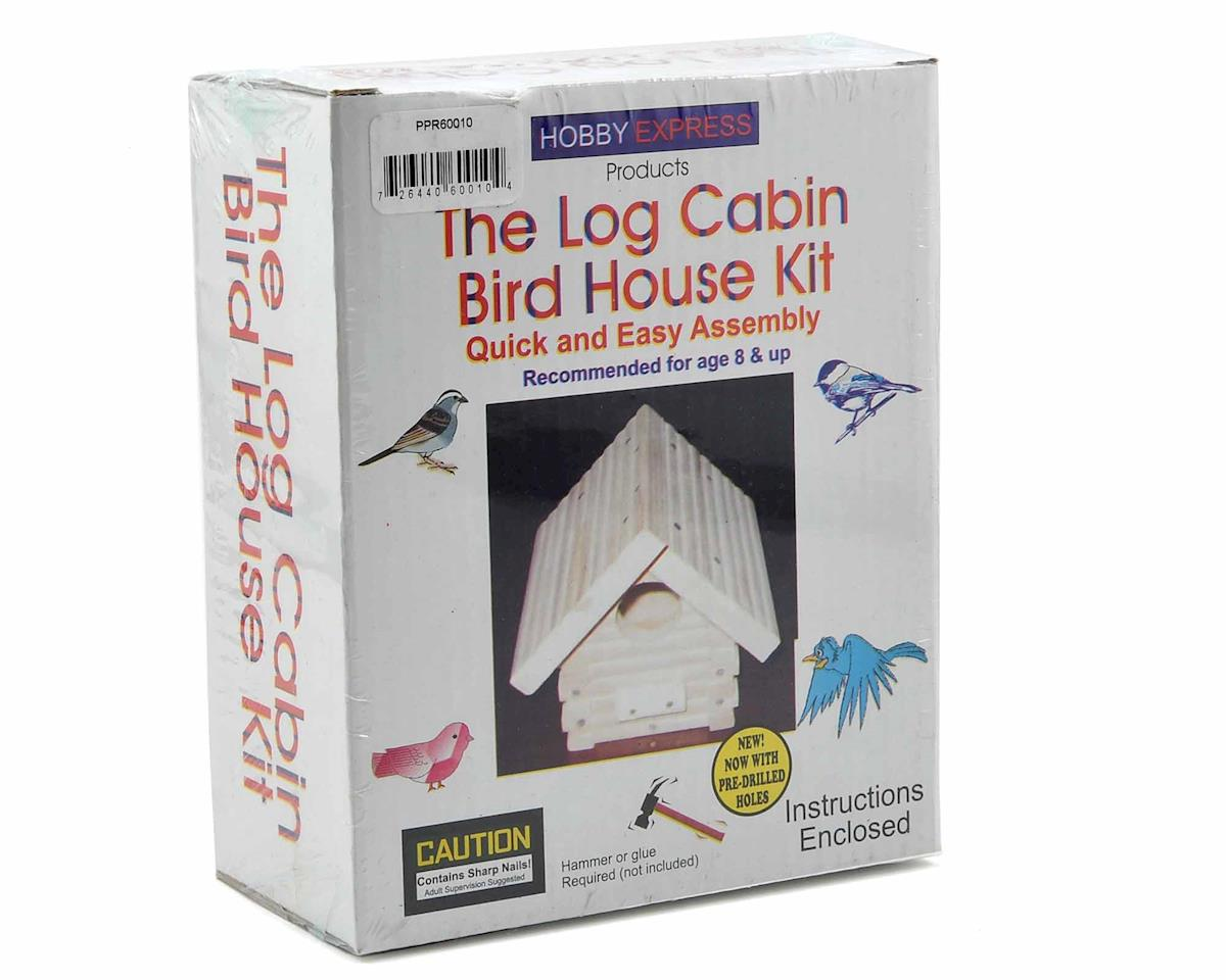 Log Cabin Birdhouse Kit by Hobby Express