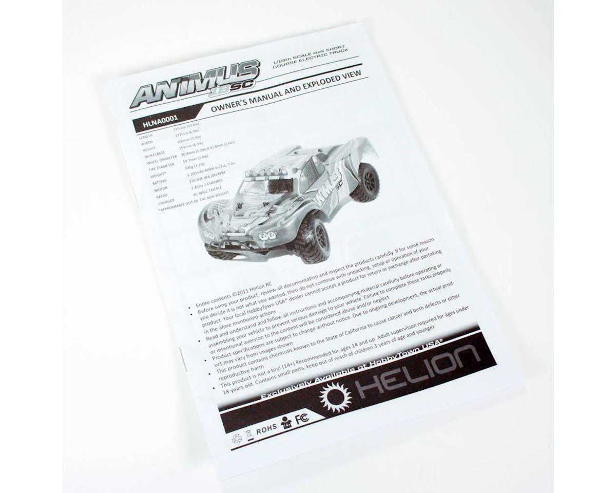 Helion Animus 18SC Owner's Manual and Exploded View