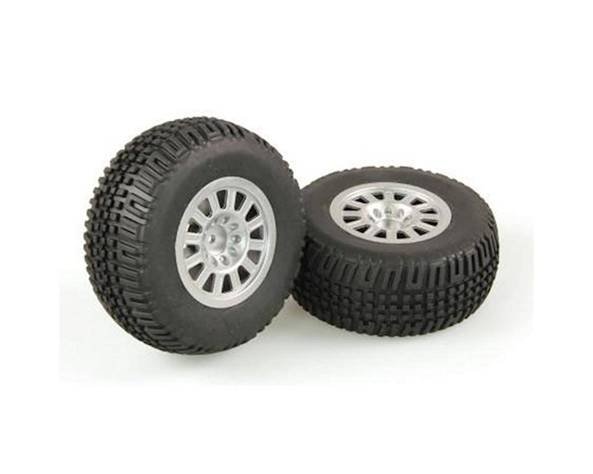 Tires, Mounted, Silver Wheel, Pair (Dominus SC) by Helion