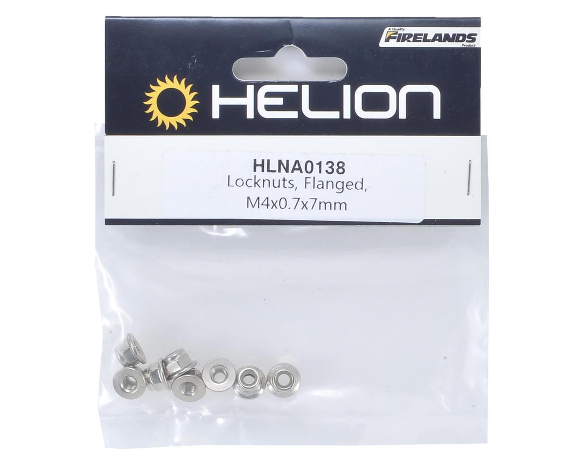 Helion RC 4x0.7x7mm Flanged Locknut (8)