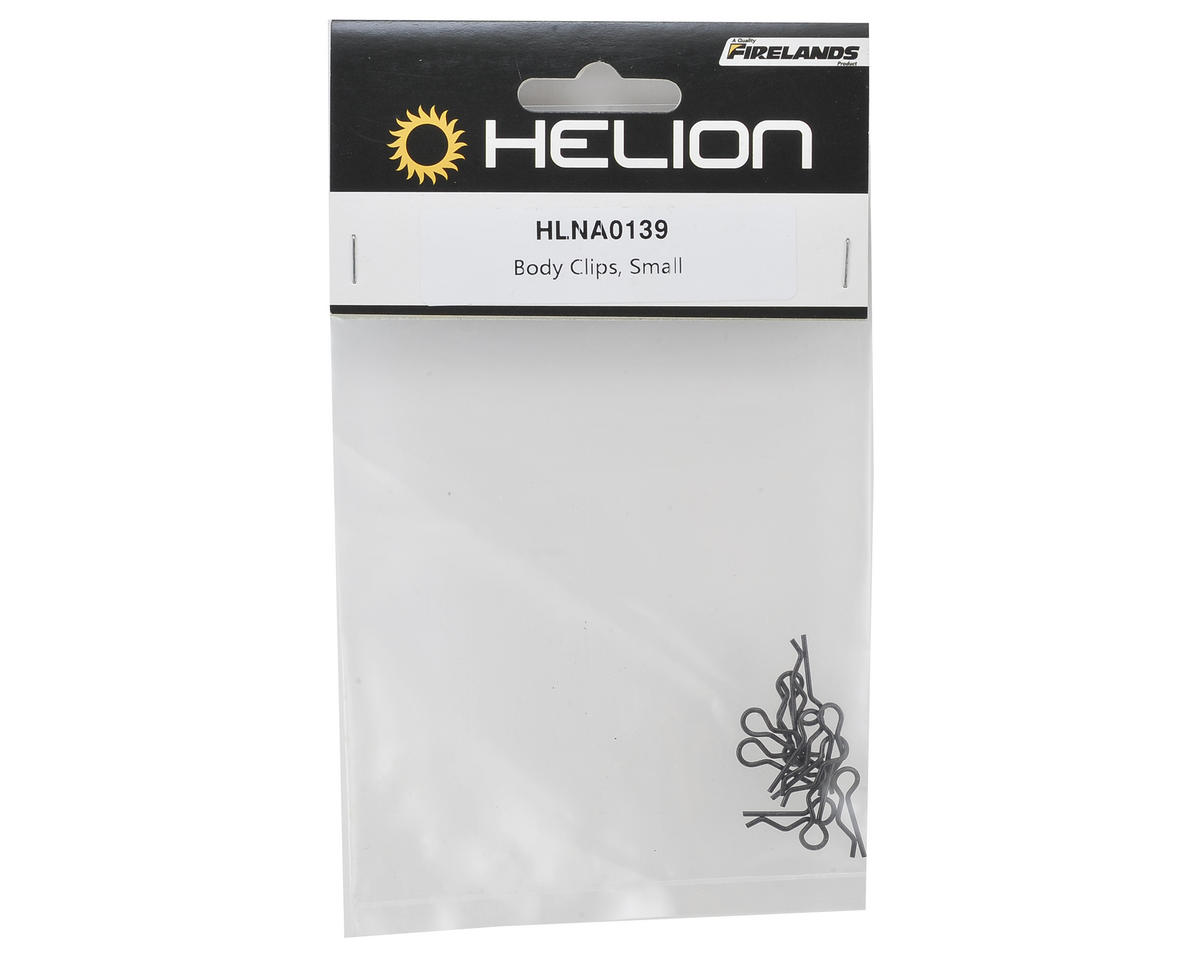 Helion RC Small Body Clips (10) (Black)