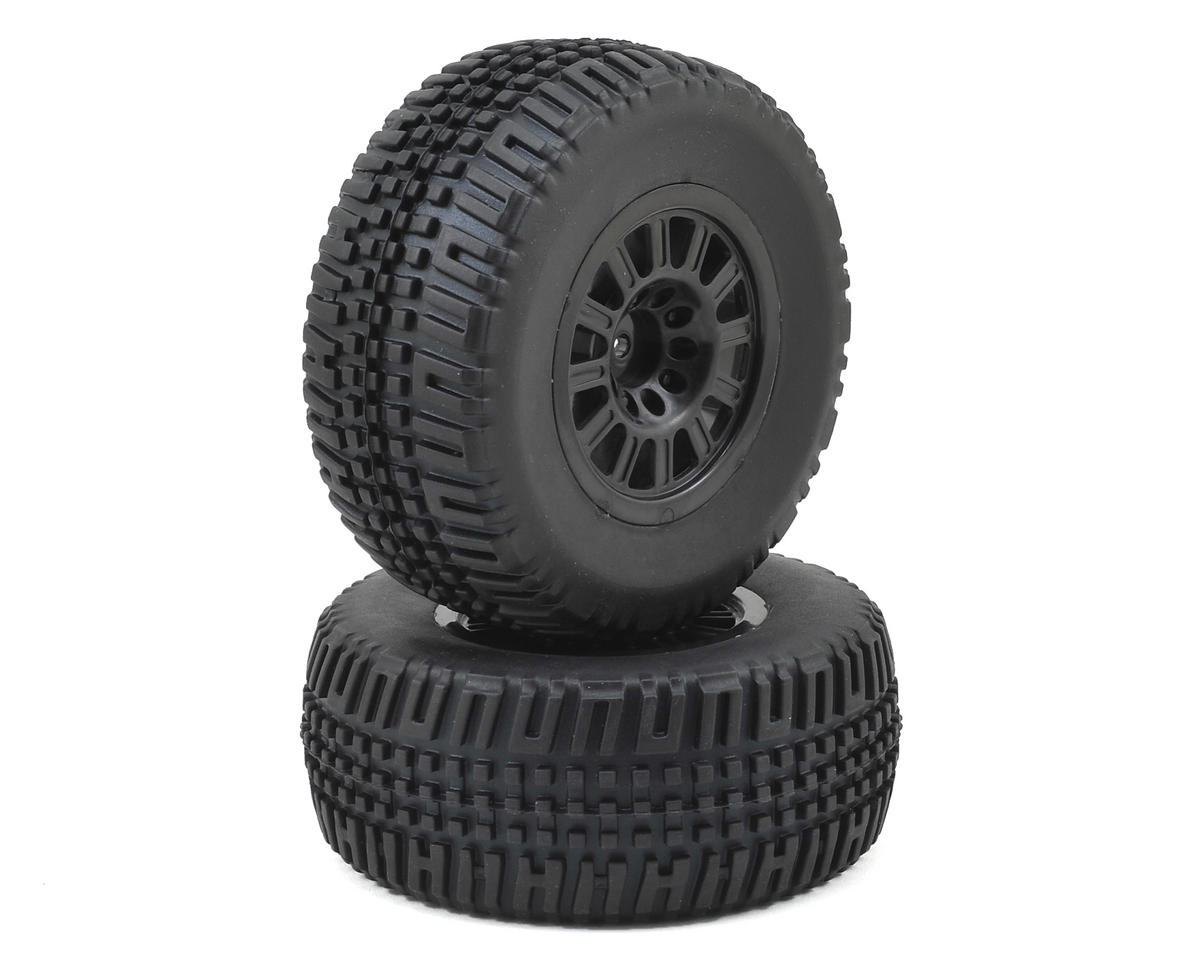 Helion RC Pre-Mounted Tires w/Black Wheels (2) (Dominus SC)