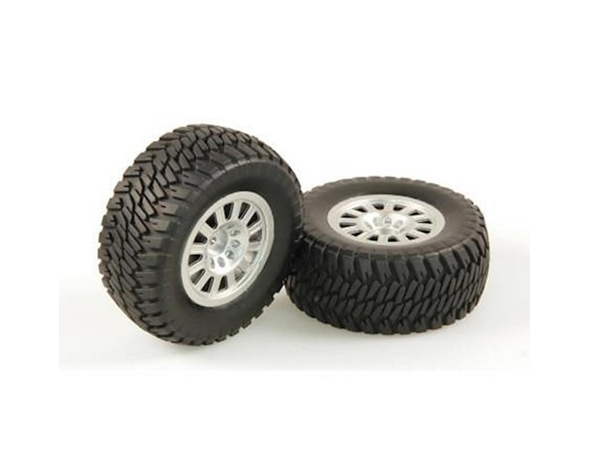 Tires, AT2, Mounted, Silver Wheel, Pair (Dominus SC) by Helion