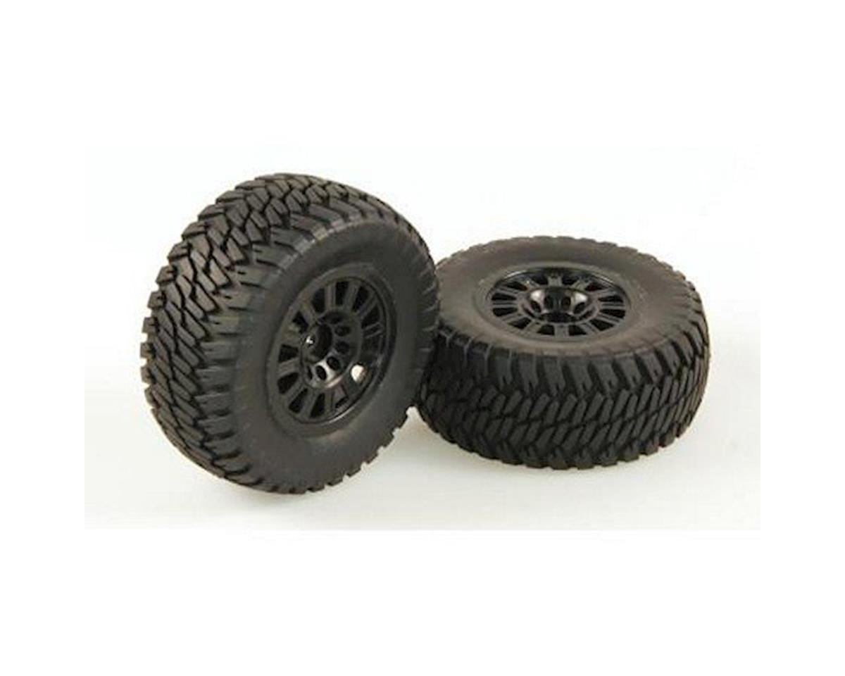 Tires, AT2, Mounted, Black Wheel, Pair (Dominus SC) by Helion