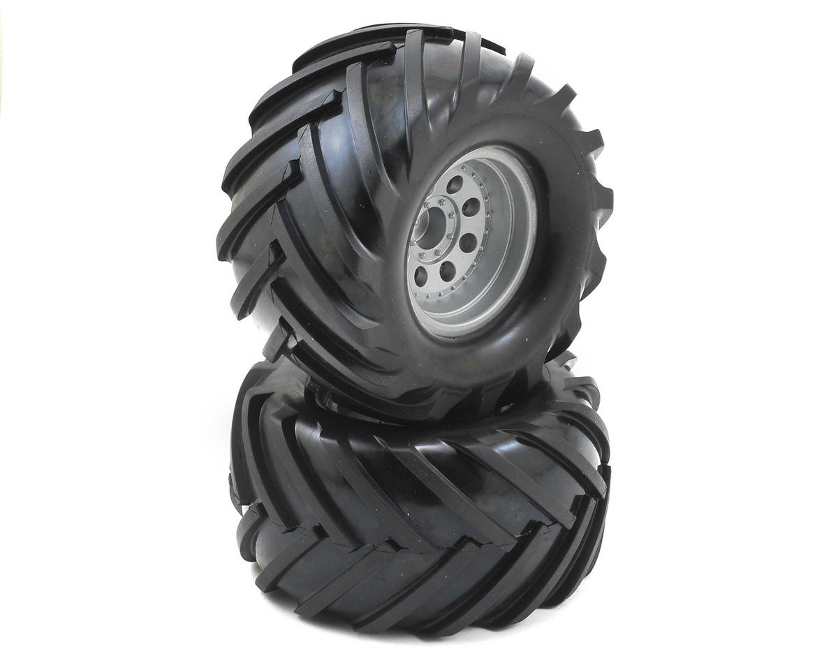 Helion Pre-Mounted Tires w/Silver Wheels (Invictus)