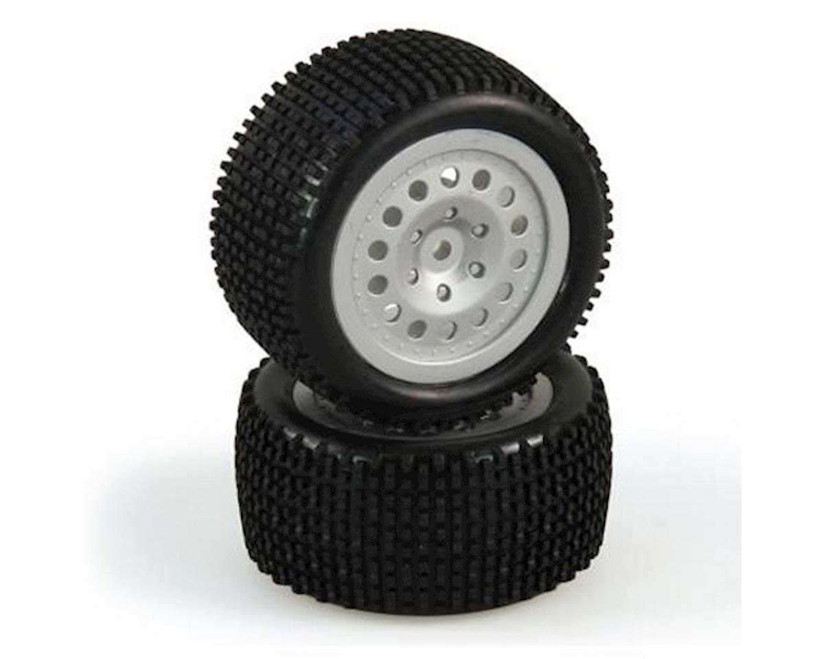 Helion Tire and Wheel Set, Rear, Silver, Premounted (Criterion Buggy)