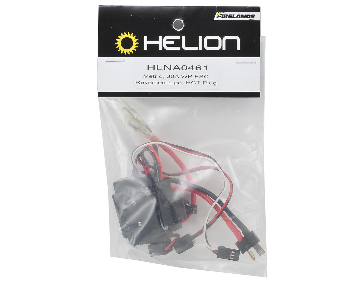 Helion RC Waterproof Brushed Metric 30A Forward/Reverse ESC (2S Max)