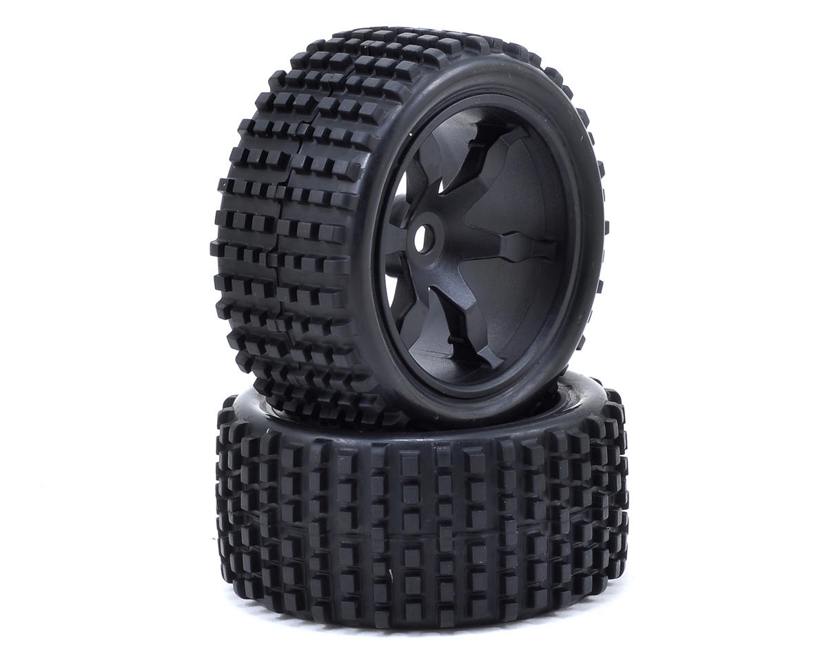 Helion Impakt 12B RC Pre-Mounted Rear Tires & Wheels (2) (Impakt)