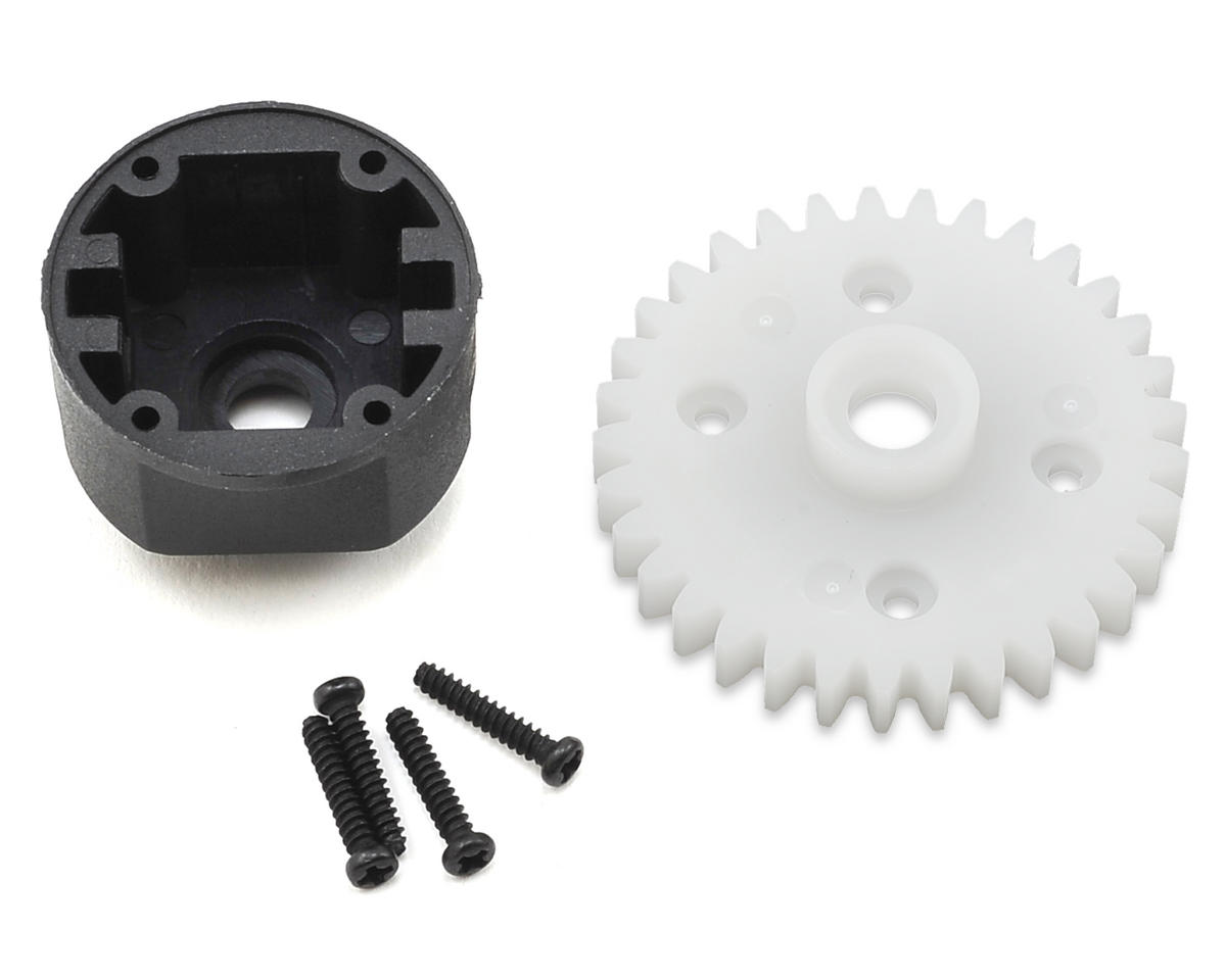 Helion Impakt 12B RC Differential Housing & Spur Gear (Impakt, Verdikt, Contakt)