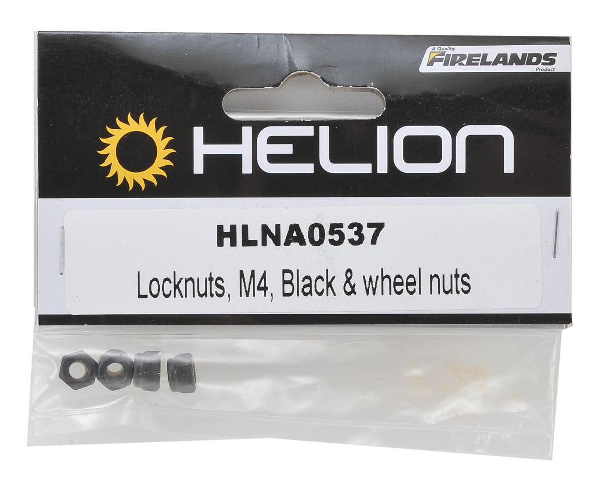 4mm Wheel Locknuts (Black) (4) by Helion RC