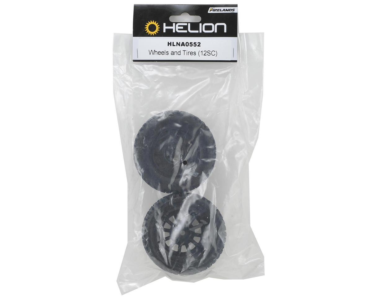 Helion RC Pre-Mounted Tires (Black) (Verdikt)