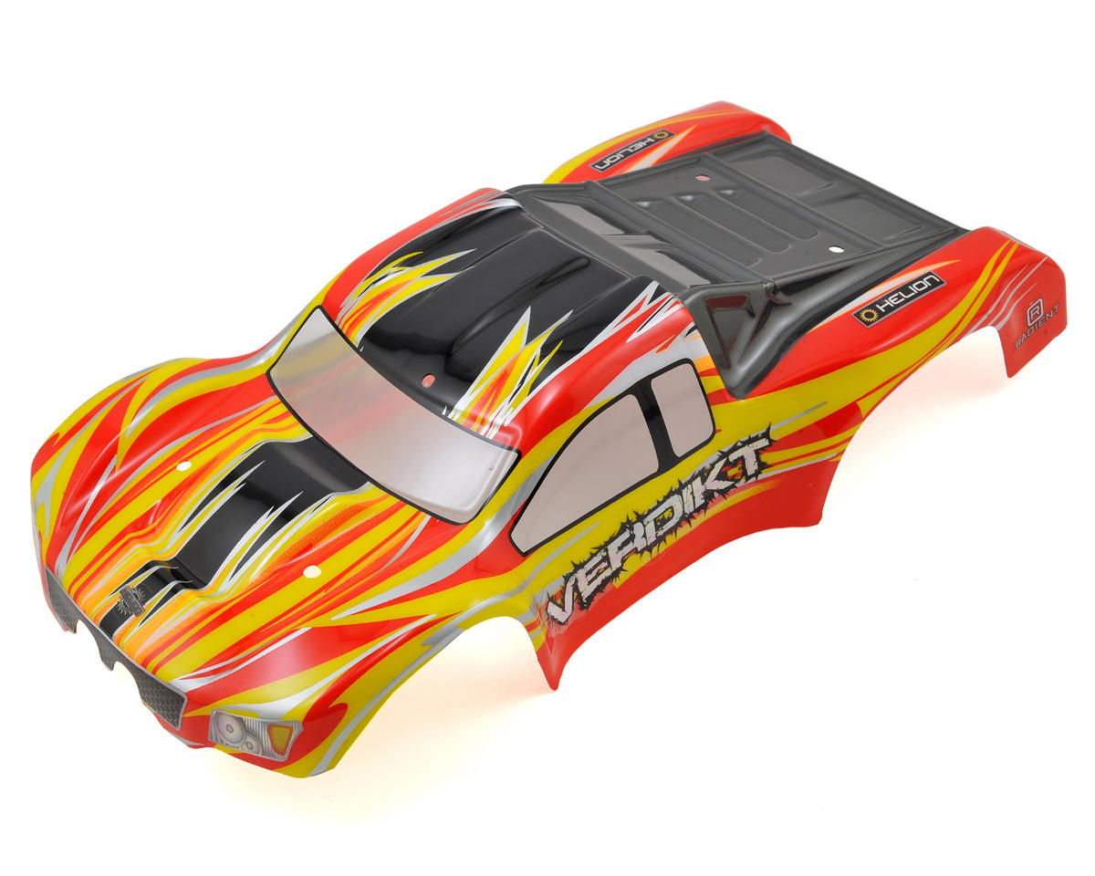 Helion RC Pre-Painted Body (Red-Yellow) (Verdikt)
