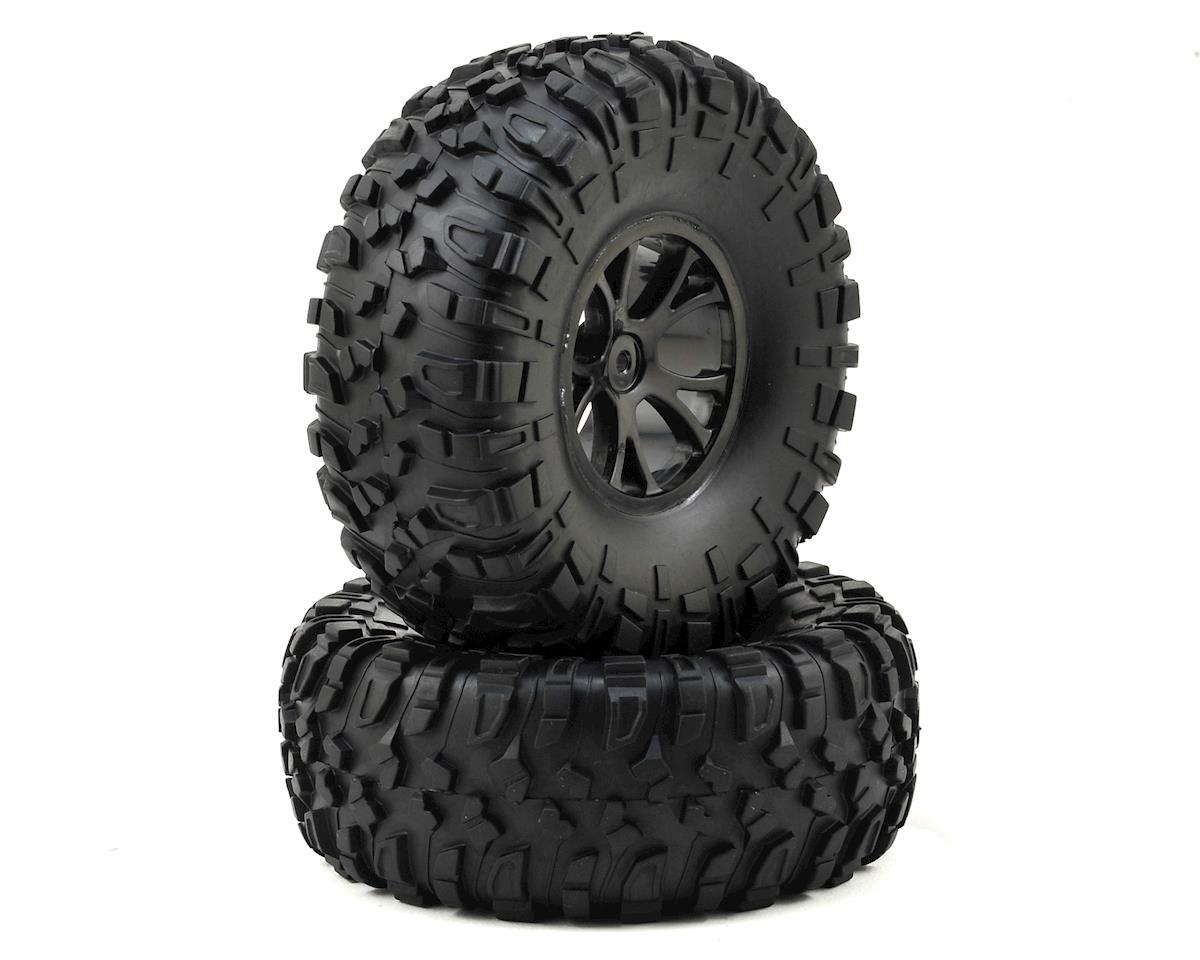 Helion Rock Rider XLR RC Pre-Mounted Tires w/Black Wheels (2)