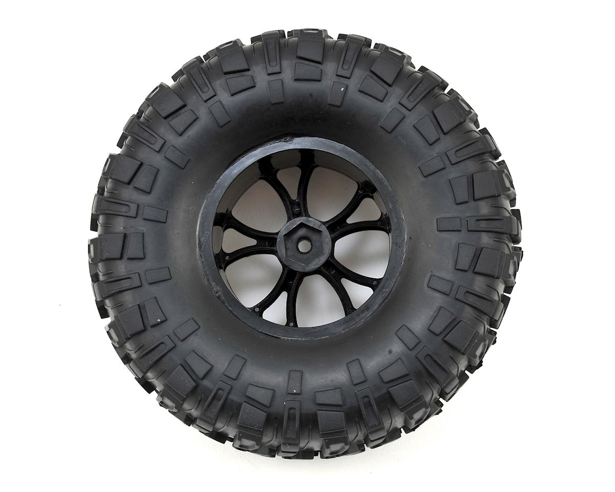 Helion RC Rock Rider Pre-Mounted Tires w/Black Wheels (2)