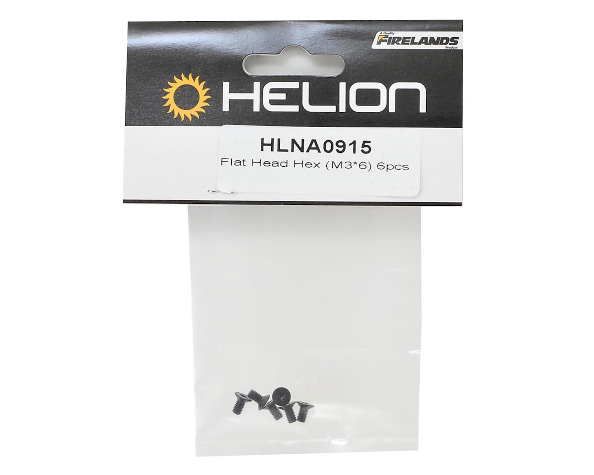 Helion 3x6mm Flat Head Hex Screws (6)