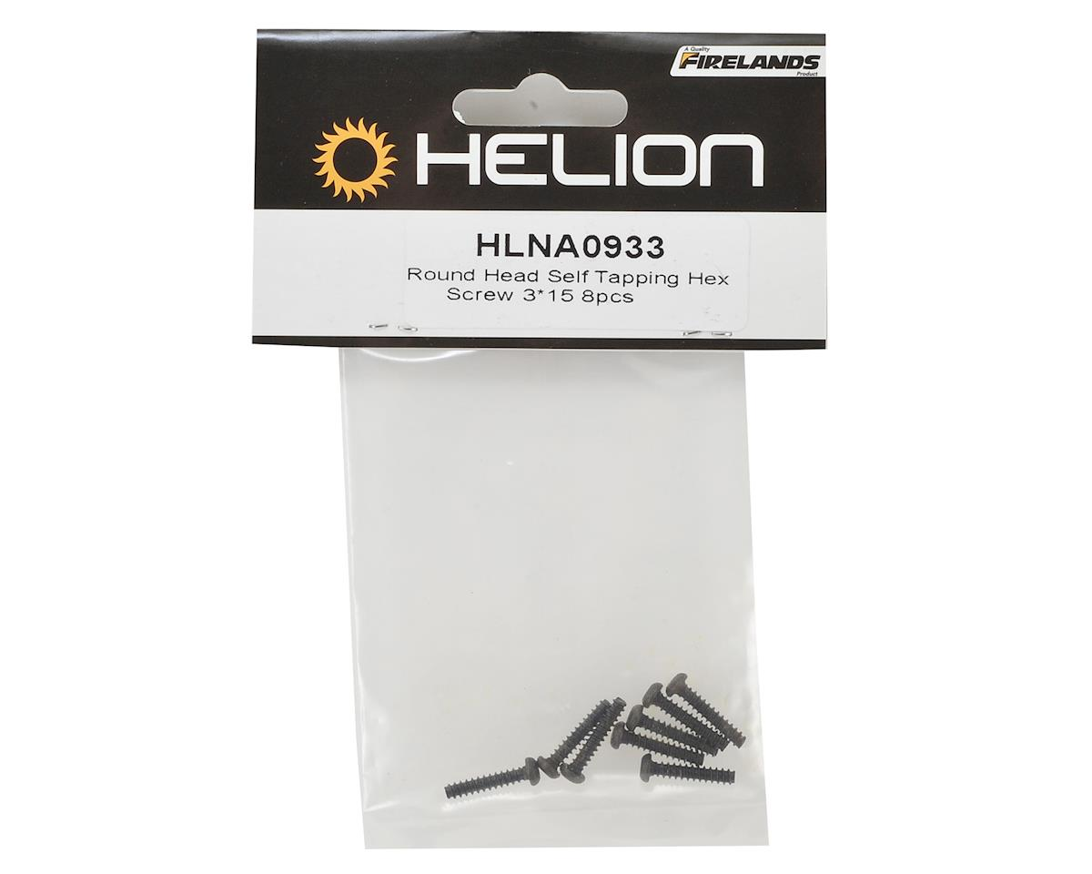 Helion 3x15mm Button Head Self Tapping Screw (8)