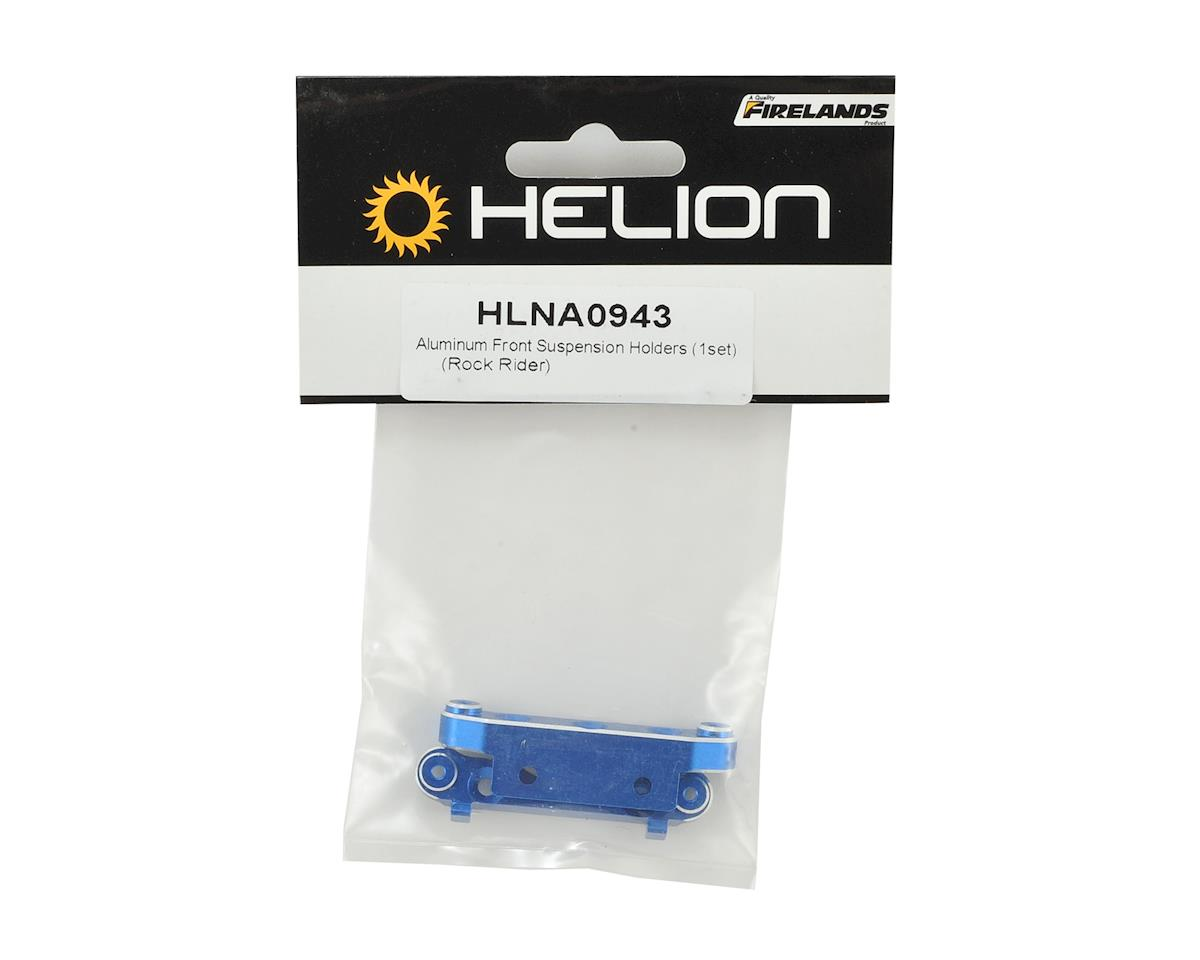 Helion Rock Rider Aluminum Front Suspension Holders (Blue) (2)