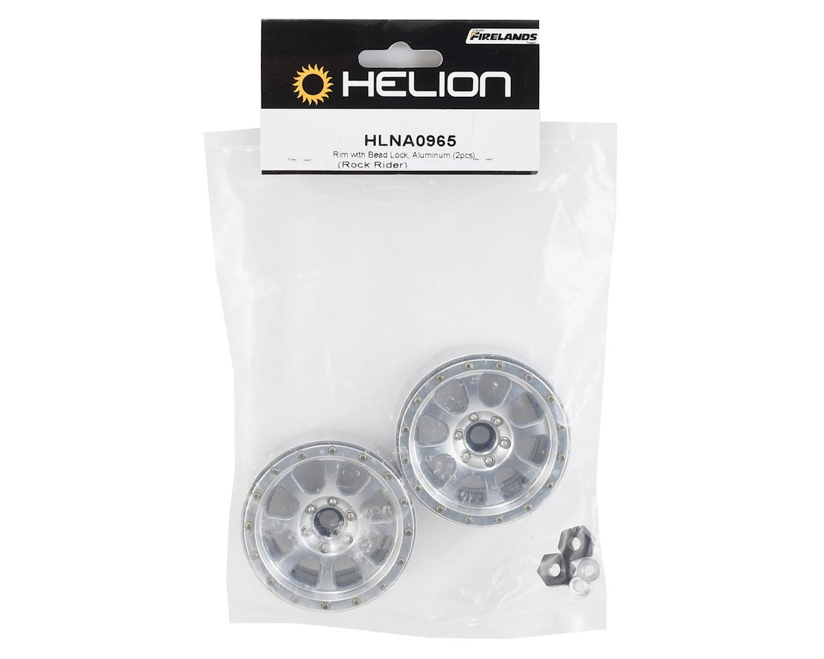 Helion Rock Rider Aluminum 2.2 Beadlock Wheel (Silver) (2)