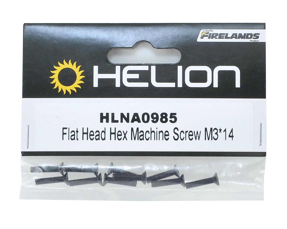 Helion RC 3x14mm Flat Head Hex Screw (10)