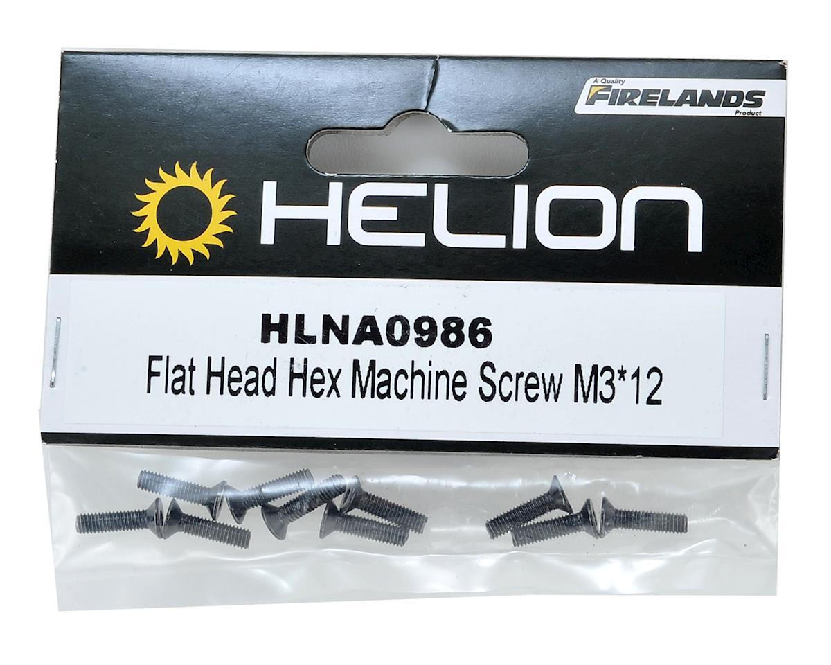 Helion 3x12mm Flat Head Hex Screw (10)