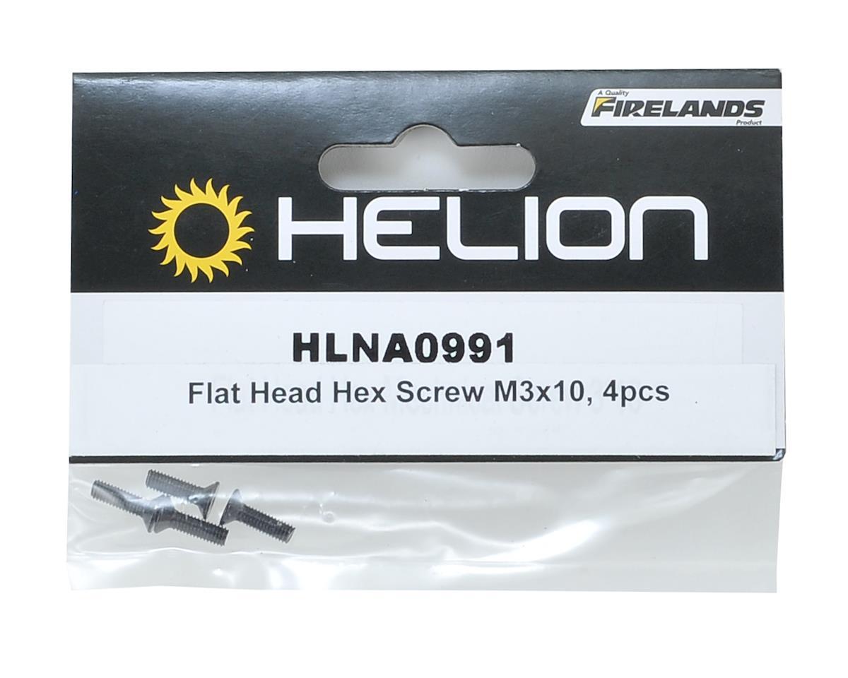 Helion 3x10mm Flat Head Hex Screw (4)