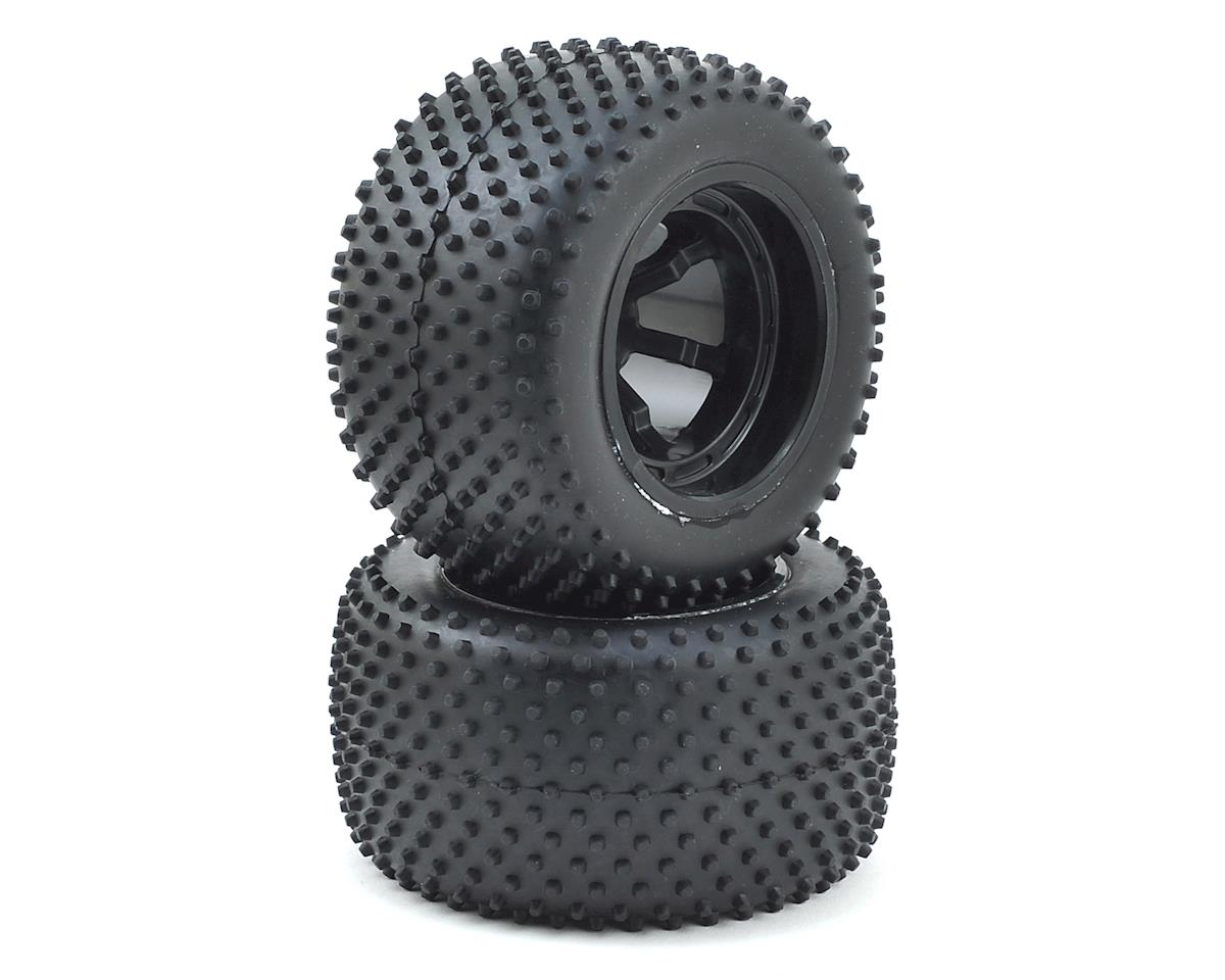 12mm Hex Pre-Mounted Rear Spike Tire w/Wheels (2) by Helion