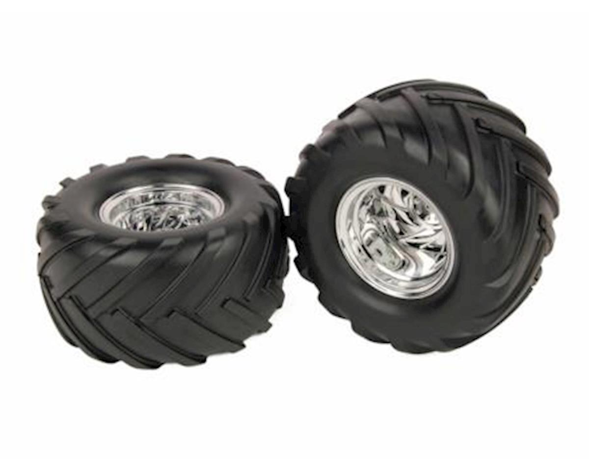 Helion 12mm Hex Pre-Mounted Monster Truck Tires (2)