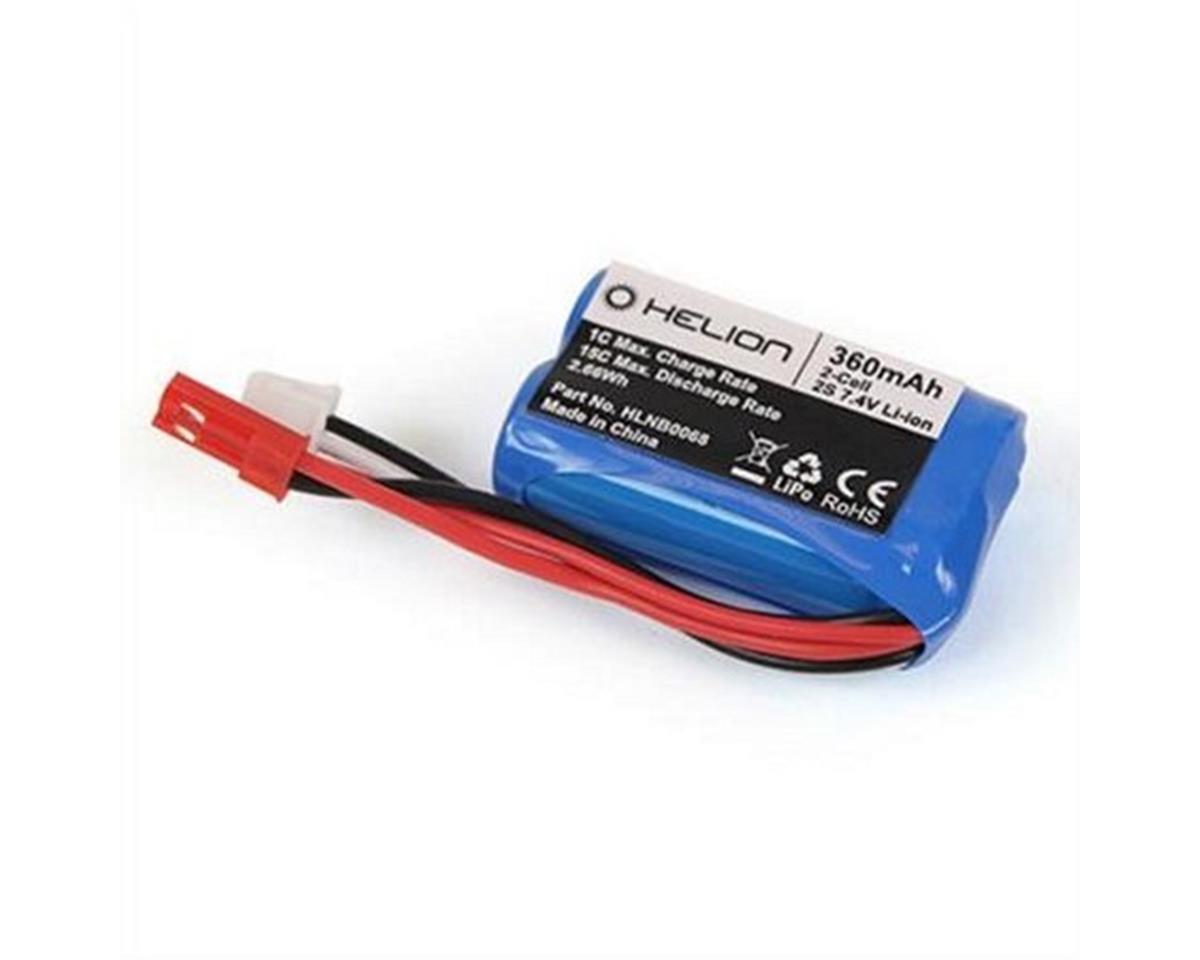 Helion 7.4V 360mAh Li-ion Battery with JST (Rivos XS)