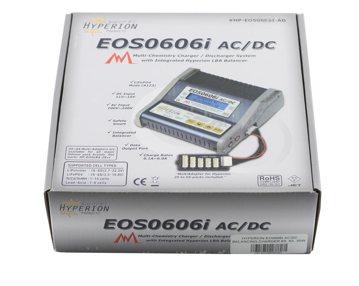 Hyperion EOS 0606i Li/NiMH/A123 AC/DC Balancing Charger (6S/6A/50W)