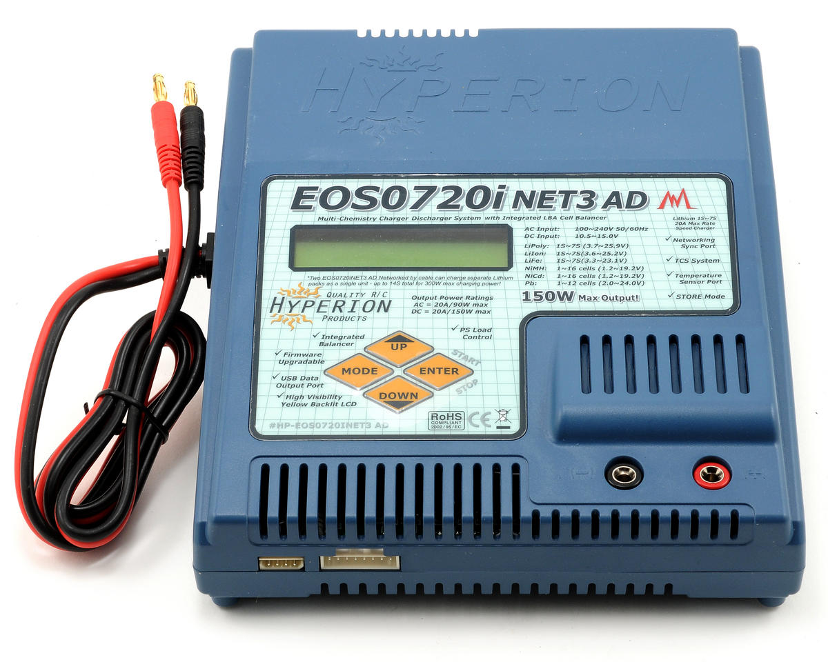 Hyperion EOS 0720i NET3-AD Li/NiMH/A123 Balancing AC/DC Charger (7S/20A/150W)