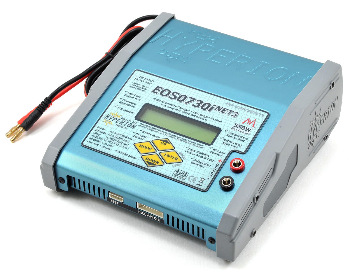 Hyperion EOS 0730i V2 Net3 LiPo/NiMH/A123 Balancing Charger (7S/30A/550W)