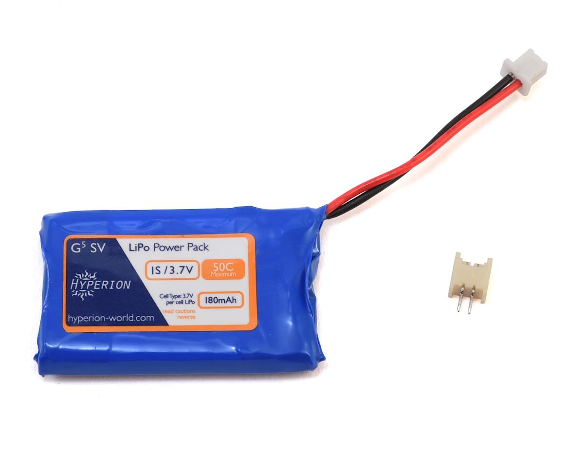 Hyperion G5 50C 1S LiPo Battery w/Ultra Micro Connector (3.7V/180mAh)