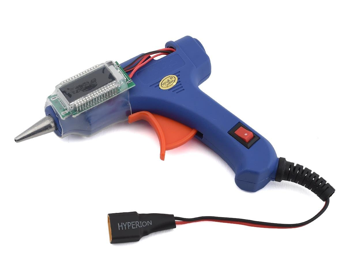 Hyperion Mini Hot 14W V2 Glue Gun w/LCD Info Display (3S LiPo Powered) (Flite Test Sparrow)