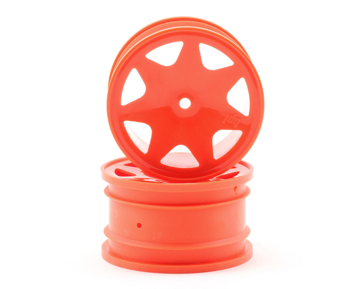 HPI Racing Brama 10B 35mm Ultra 7 Rear Wheels (2) (Orange)