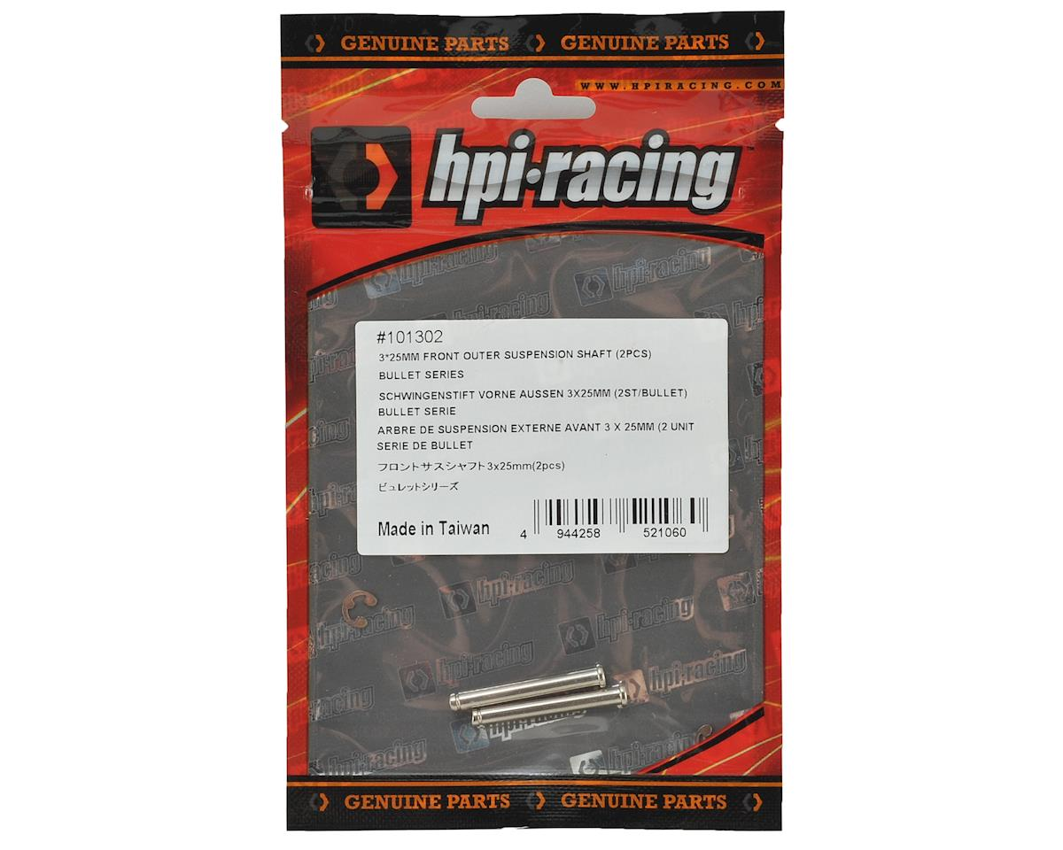 HPI 3x25mm Front Outer Suspension Shaft (2)