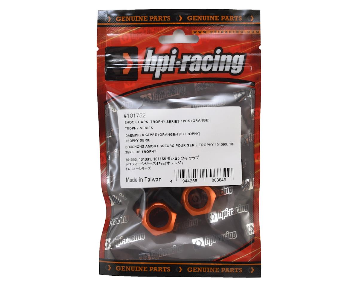 HPI Trophy Series Shock Caps (Orange) (4)