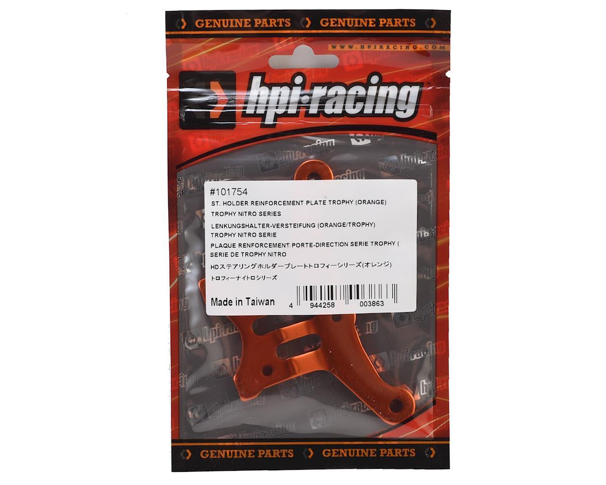 Trophy Steering Holder Reinforcement Plate (Orange) by HPI