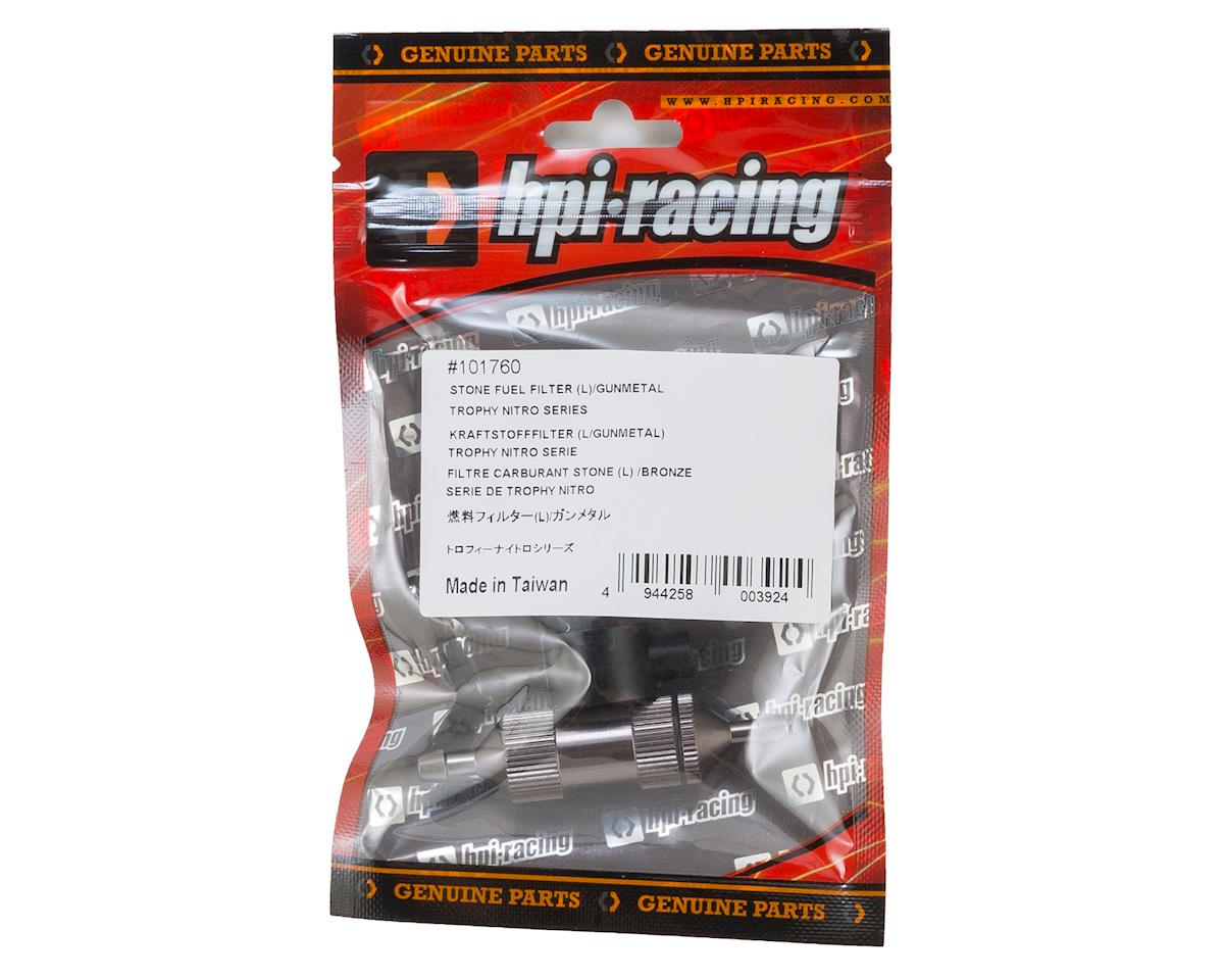 Large Stone Fuel Filter (Gunmetal) by HPI
