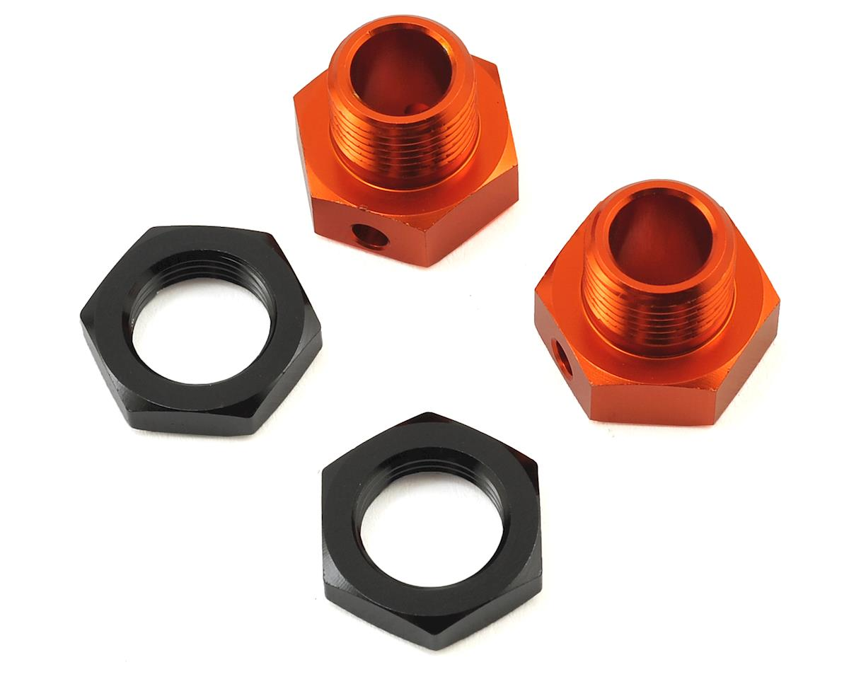 6.7mm Hex Wheel Adapters (2) (Orange) (Trophy Buggy/Truggy) by HPI