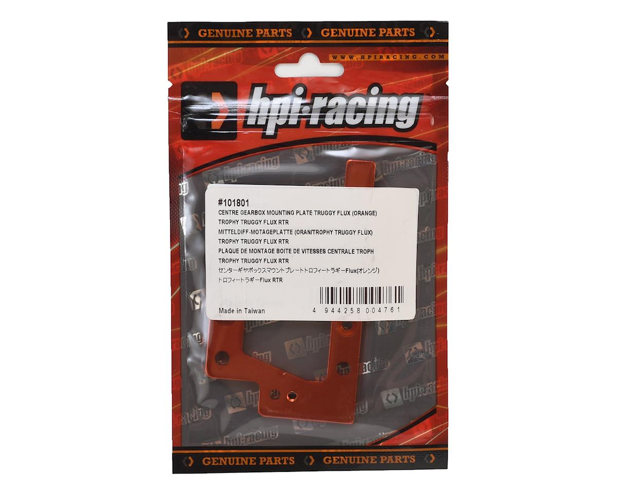 Aluminum Trophy Truggy Flux Center Gearbox Mounting Plate (Orange) by HPI