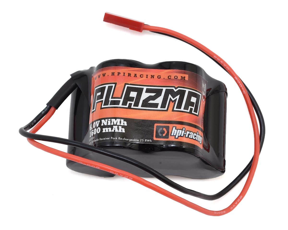 Plazma 5-Cell NiMH 2/3A Hump Receiver Battery Pack (6.0V/1600mAh)