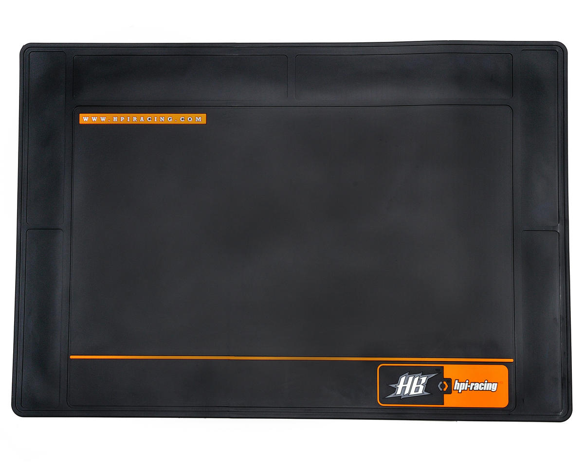 HPI Racing HB Racing Large Pit Mat (Black) (75x50cm)
