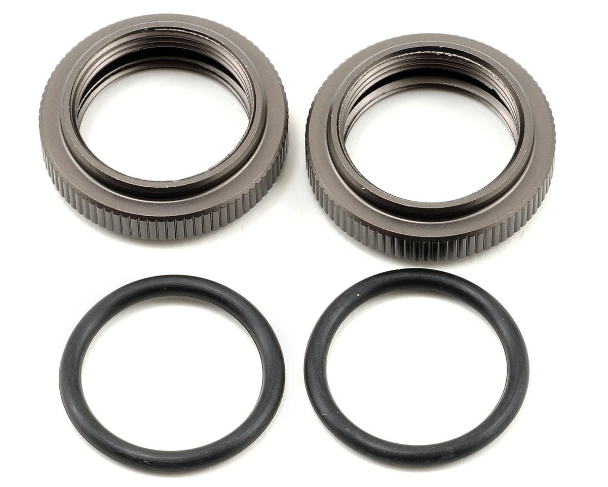 HPI Racing 20mm Shock Pre-Load Adjuster Nut Set w/O-Rings (Gunmetal) (2)