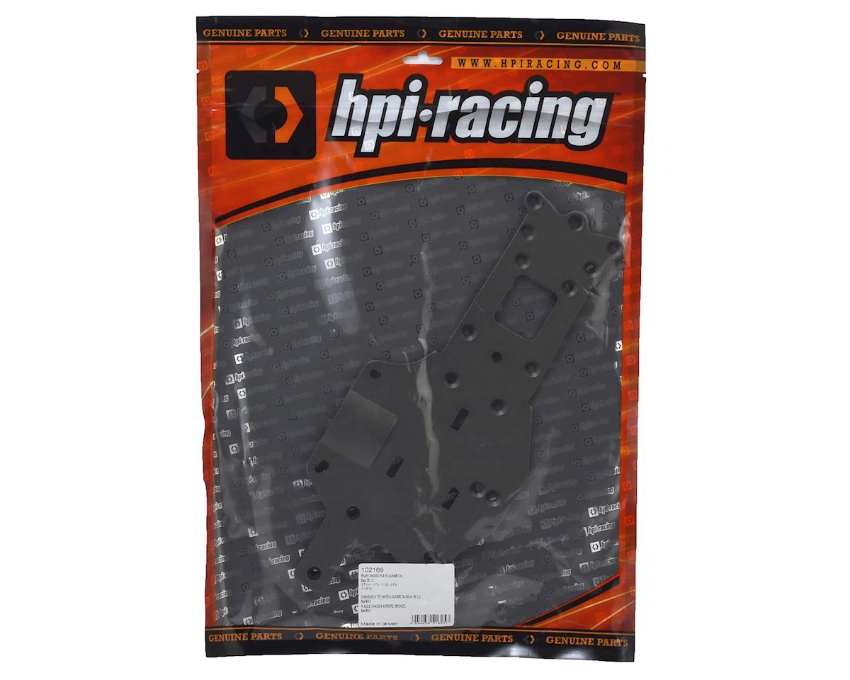 HPI Racing Rear Chassis Plate (Gunmetal)