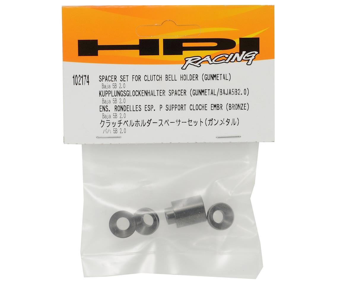 HPI Clutch Bell Holder Spacer Set (Gunmetal)