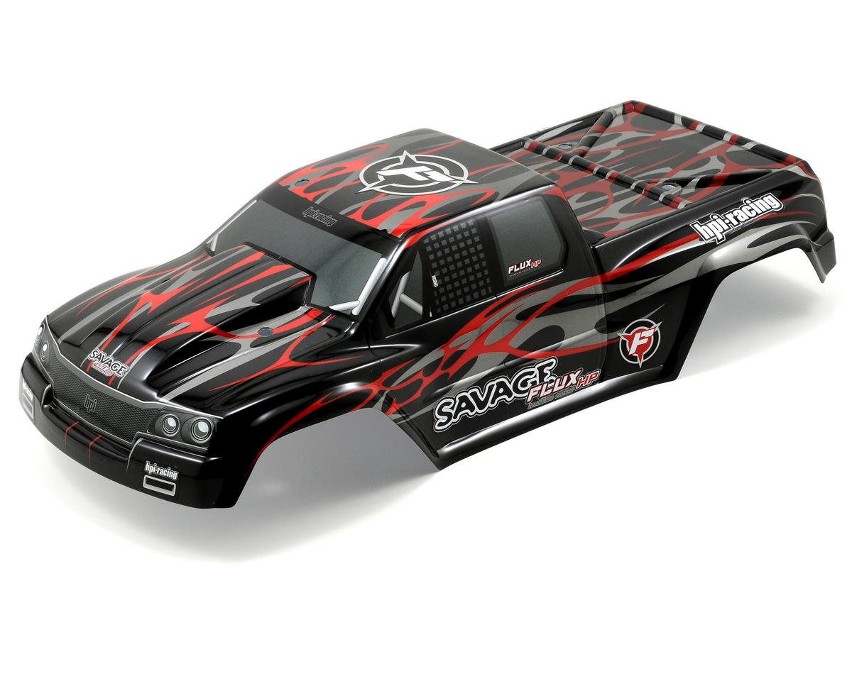 HPI Racing Savage Flux GT-2 Painted Body (Black/Red/Silver)
