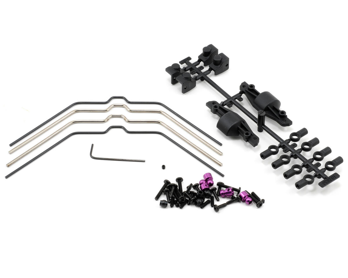 Front & Rear Sway Bar Set (4) by HPI