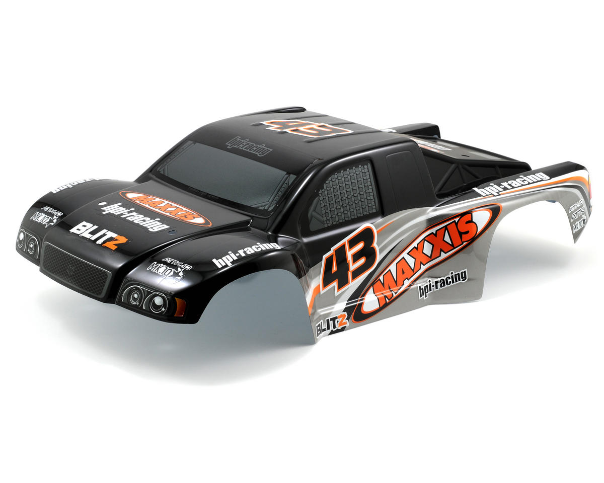 HPI Racing Maxxis Attk-10 Pre-Painted Body (Black/Silver)